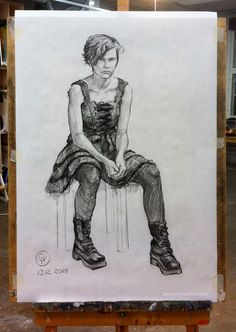 Figure drawing 13.12.2015, kuvittaja / illustrator Ossi Hiekkala www.archipictor.com