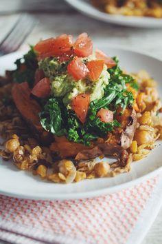 southwest stuffed sweet potato #vegan | RECIPE on hotforfoodblog.com