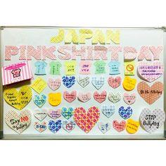 ピンクシャツデー メッセージボード @東京