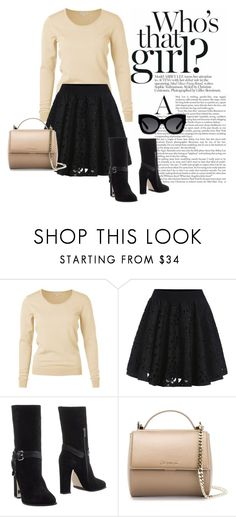 """""""Saturday afternoon with friends"""" by brandonandrews500 ❤ liked on Polyvore featuring mode, Le Silla, Givenchy et Karen Walker"""