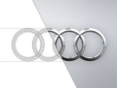 Audi logo, from tires to logo :-)