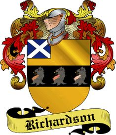 Family Crest~The family surname history of Richardson is of Scottish origins. It…