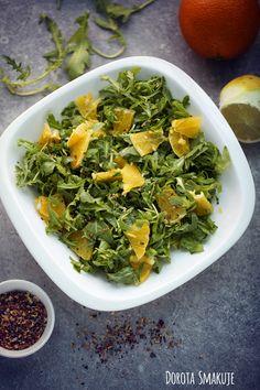 Rukola z pomarańczą  - post dr Dąbrowskiej Good Healthy Recipes, Vegan Recipes, Good Food, Yummy Food, Fitness Diet, Lettuce, Nutella, Spinach, Nutrition
