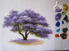 How to paint a tree in acrylics lesson 2 - YouTube