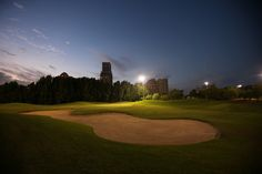 Experience a round of golf under the stars at the 18 hole championship golf course of Al Hamra Golf Club with Waldorf Astoria Ras Al Khaimah