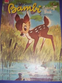 Vintage Walt Disney Bambi Coloring Book UNUSED 1966