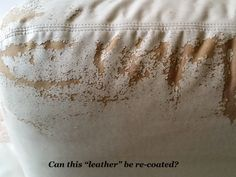 Flaking Leather Couch Repair
