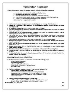 12 best frankenstein study images on pinterest classic monsters frankenstein final exam with final exam study guide and key fandeluxe Image collections