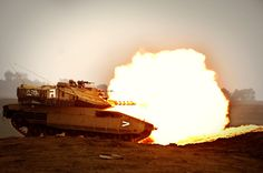 Merkava Mk 4 firing