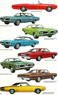 Vintage Cars Muscle 1970 Dodge Coronet Range Those are extremely rare, the R/T and the Super Bee are the fewest produced of them all! Pub Vintage, Vintage Cars, Antique Cars, Carros Vintage, Dodge Super Bee, Dodge Muscle Cars, Dodge Coronet, Car Illustration, Car Advertising
