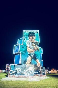 North West Walls – Des créations street art sur des structures de containers