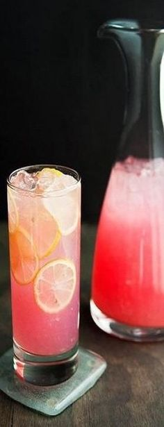 Moscato Pink Lemonade: frozen concentrate pink lemonade (made per directions), 1 bottle pink moscato, and as much strawberry vodka as you want!.