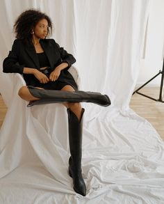 Cowboy boots - this season s must have trend Made from soft leather and set on a Cuban heel Wear yours with crisp cotton dresses and oversized blazers Cowboy Boot Outfits, Black Cowboy Boots, Cowboy Boots Women, Cowgirl Boots, Western Boots, Riding Boots, Combat Boots, Boho Boots, Boots Style