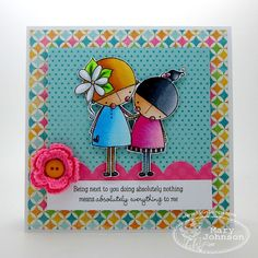 Where's my creativity?: There She Goes Amalia & Laylah Blog Hop Challenge! Love the colors