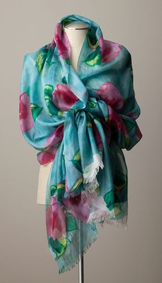 Hand painted silk. The Art Institute of Chicago