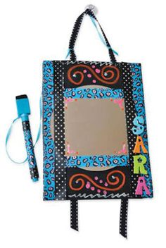 Locker or room accessory, white board with attached pen. 9-12 years old