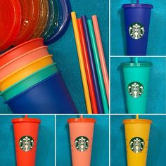 Venti Includes: 1 Reusable Cup, 1 Reusable Lid, and 1 Reusable Straw. Adding Cold Beverage Causes Cup To Change Color. Copo Starbucks, Starbucks Seattle, Starbucks Caramel, Custom Starbucks Cup, Starbucks Tumbler, Starbucks Drinks, Starbucks Coffee, Hot Coffee, Starbucks Drinkware