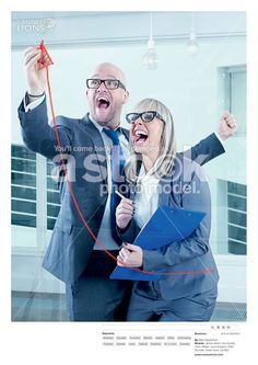 Spoof stock images depicting corporate types, even better than the real thing!