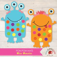 Miss Monster Pom Pom Learning Mats AUTOMATIC DOWNLOAD