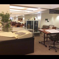 The Audubon exhibit and sketching station on the first floor of the SCSU Library.