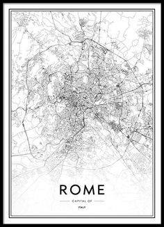 Rome map poster in the group posters & prints / maps & cities at desenio ab Text Poster, Gold Poster, Carte New York, Love One Another Quotes, Rome Map, Desenio Posters, London Poster, London Map, London Skyline