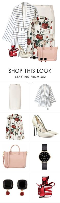 """Spring Blooms"" by ahapplet ❤ liked on Polyvore featuring Donna Karan, Tucker, Dolce&Gabbana, Casadei, Myku, Les Néréides, Nina Ricci, Winter and ahapplet"
