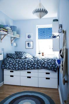 Før & efter: Småt & sejt drengeværelse - Se værelset her - ALT. Small Room Bedroom, Small Rooms, Girls Bedroom, Bedroom Decor, Bedroom Ideas, Cool Teen Bedrooms, Trendy Bedroom, Ideas Habitaciones, Pc Table