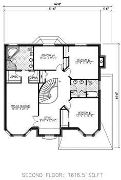 Second Floor Plan of House Plan 50318