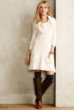 Sweater Dress #anthrofave #anthropologie Love this store, but wish they had long sizes!! Sometimes #toomuchleg