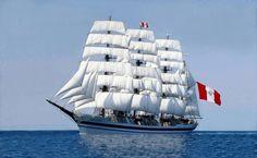 Buque escuela BAP Unión  de la Marina de Guerra del Perú / Peruvian Navy sail training barque Union