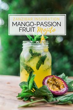 We hope you love this mojito twist on a drink that had us up dancing into the early hours in Zanzibar! Fruit Mojito Recipe, Passion Fruit Mojito, Summer Drinks, Cocktail Drinks, Cocktail Recipes, Mango Cocktail, Party Drinks, Gin Und Tonic, Slushies