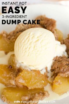 Just 3 ingredients to make this delicious and super-easy Instant Pot dump cake recipe. No Cook Desserts, Homemade Desserts, Easy Desserts, Dump Cake Recipes, Frosting Recipes, Instant Pot, Pots, Matcha Dessert, Fondant Tips