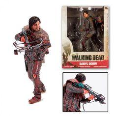 """Figura The Walking Dead. Daryl Dixon 25cm Survivor Edition. McFarlane Toys Figura articulada de 25cm de altura del personaje de Daryl Dixon en su exclusiva """"Edición Superviviente"""", protagonista de la serie de televisión The Walking Dead."""
