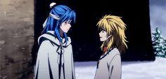 Akatsuki no Yona / Yona of the dawn anime and manga OAD / OVA    Zeno's Arc. Yellow dragon Ouryuu and Abi the blue dragon Seiryuu. This is so sweet ;w;