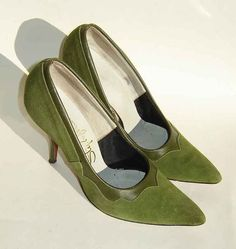 Nothing will ever equal the original stilletoes of the 50's.  Vintage Shoes 50s 60s Stiletto High Heels by metroretrovintage, $28.00