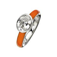 b39d7c47a22 Giorgio Martello Milano Orange Lacquer Solitaire Ring ( 100) found on  Polyvore
