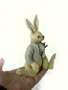 One Of a Kind Vintage Styled Artist Bear Rabbit by by aerlinnbears, $240.00