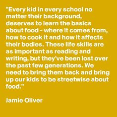 Mighty fine #food mantra @jamieoliver