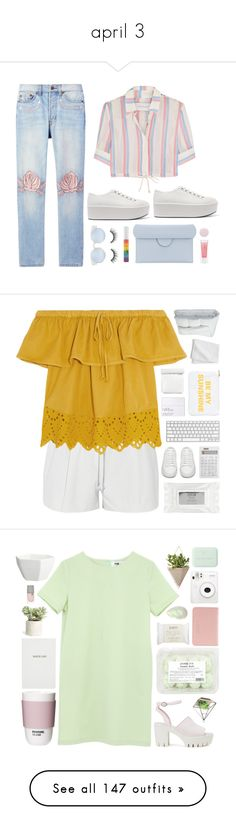 """april 3"" by amalenajusoh ❤ liked on Polyvore featuring Bliss and Mischief, Prada, Solid & Striped, tarte, Forever 21, Roksanda, Nails Inc., platformsneakers, Elizabeth and James and Madewell"