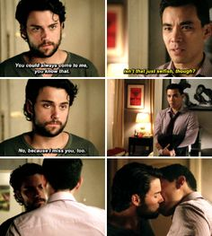 How to get away with Murder ... Connor and Oliver ... I miss you too