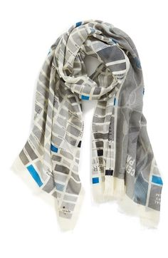 Gorgeous and practical. Love this Kate Spade 'Manhattan Map' wool scarf.
