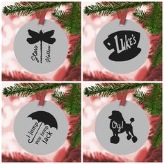 Set for 4 Gilmore Girl Ornament Decals - $7.99. https://www.bellechic.com/deals/533c877ae2ef/set-for-4-gilmore-girl-ornament-decals