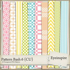 Package contains 10 300 dpi patterns that work great in any themed kit - templates all 12x12 inches in PNG format.
