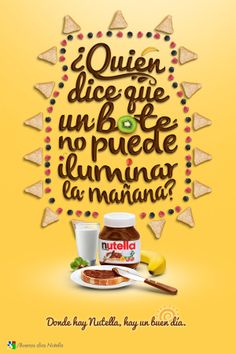 Advertising Campaign : Buen día con Nutella on Behance Poster Ads, Advertising Poster, Advertising Campaign, Ad Of The World, Branding, Creative Advertising, Print Ads, Mandala Design, Behance