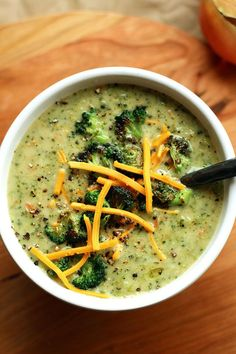 Creamy Vegan Broccoli Soup  --I added some butternut squash, an extra tablespoon of nutritional yeast, and it needed more veg stock than was asked for. Also used arrowroot powder instead of flour. Very yummy! (S)