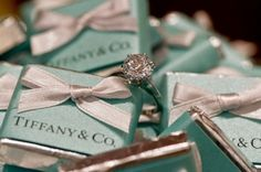 engagement ring + boxes