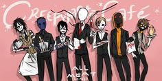 Laughing Jack / Eyeless Jack / Jeff the killer / Slenderman / Masky / Hoodie / Ticci Toby I think Slender is the owner. here's the comics: alloween. Familia Creepy Pasta, Creepy Pasta Family, Jeff The Killer, Wattpad, Seven Minutes In Heaven, Creepypasta Slenderman, Creepypasta Quiz, Creepy Monster, Dont Hug Me