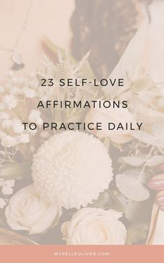 23 Self-love affirmations to practice daily. Sometimes self-love doesn't come naturally. Here are affirmations to help you love yourself more everyday. Self Love Affirmations, Morning Affirmations, Healing Affirmations, Self Love Quotes, Hope Quotes, Friend Quotes, Smile Quotes, Quotes Quotes, How To Gain Confidence
