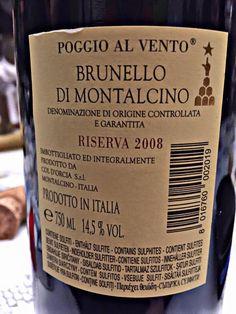 El Alma del Vino.: Tenuta Col D´Orcia Poggio Al Vento Riserva 2008.