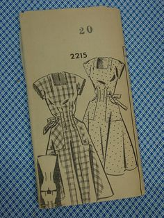 Fun Vintage 1940's Mail Order Pattern for Housedress, Size 20 Unused. $12.00, via Etsy.